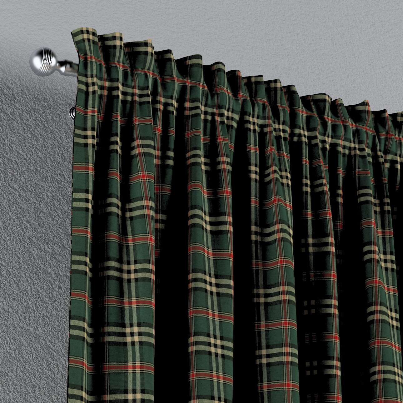 Vorhang mit Tunnel und Köpfchen von der Kollektion Bristol, Stoff: 142-69