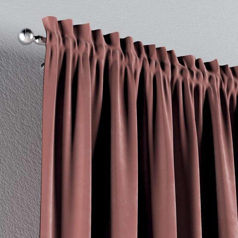 Zasłona na kanale z grzywką 1 szt. w kolekcji Velvet, tkanina: 704-30