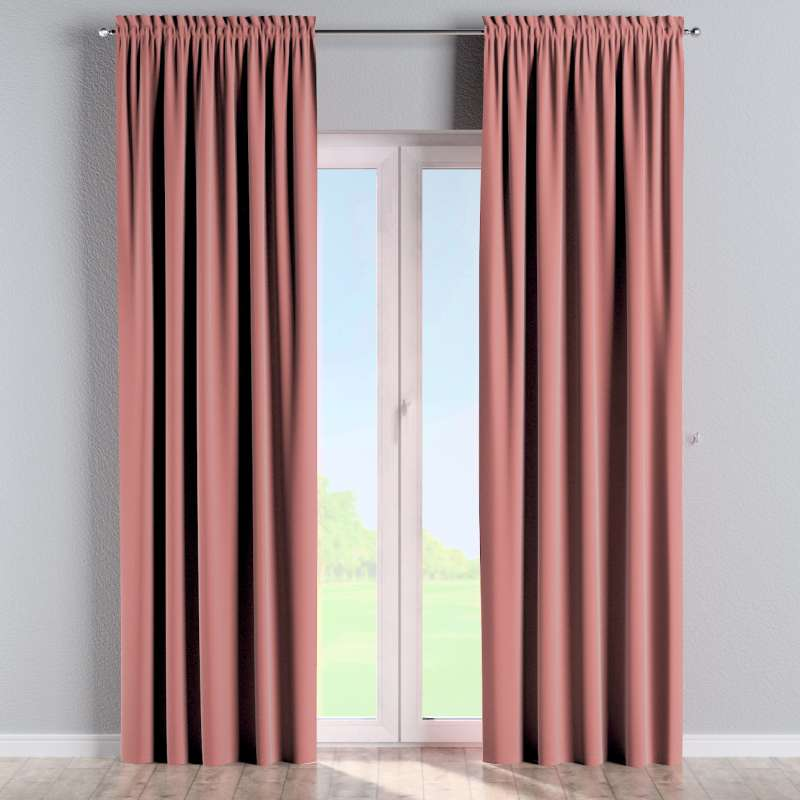 Slot and frill curtains in collection Posh Velvet, fabric: 704-30