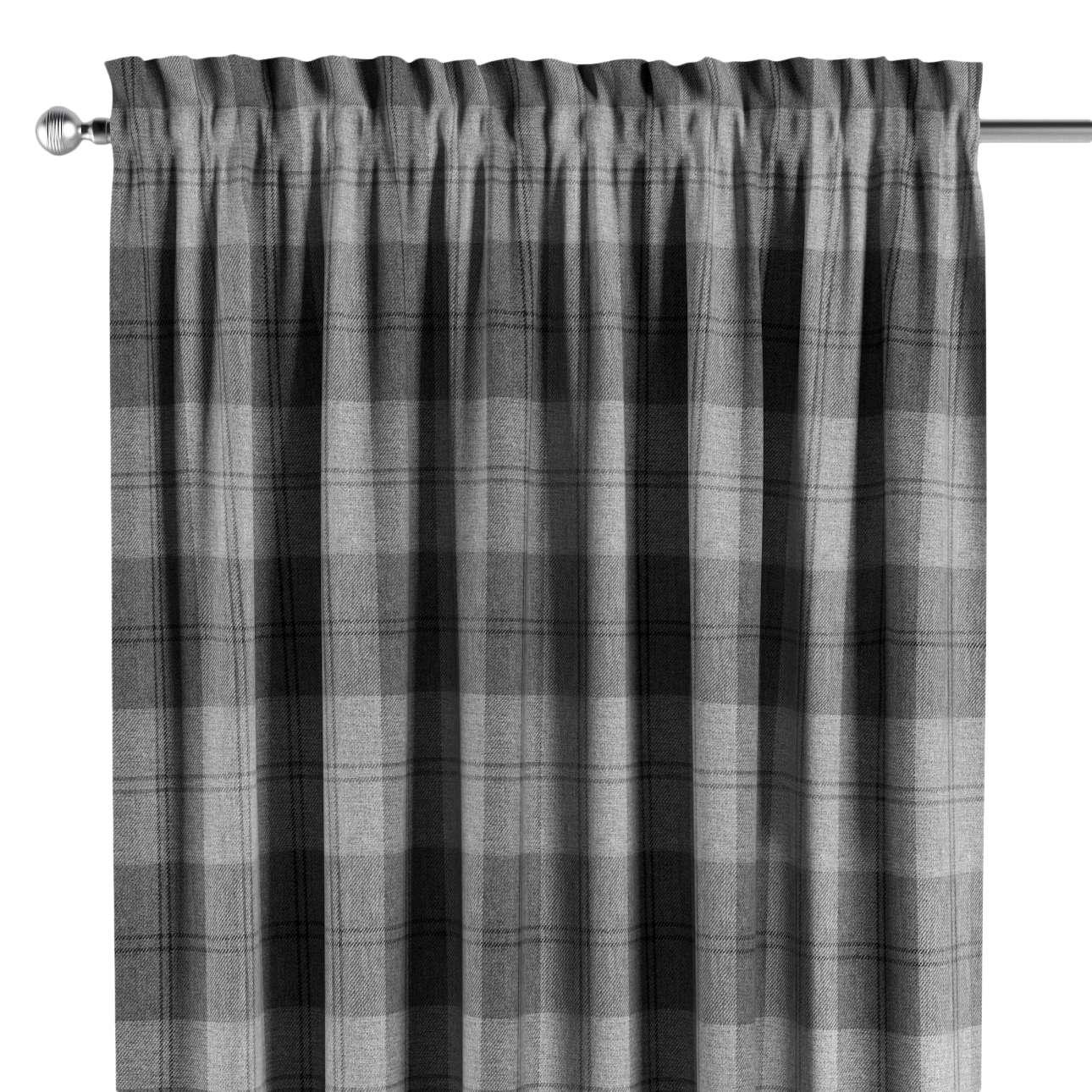Zasłona na kanale z grzywką 1 szt. w kolekcji Edinburgh, tkanina: 115-75