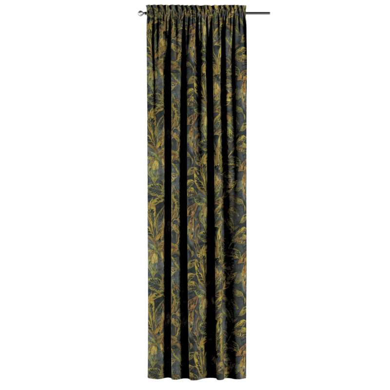 Zasłona na kanale z grzywką 1 szt. w kolekcji Abigail, tkanina: 143-01