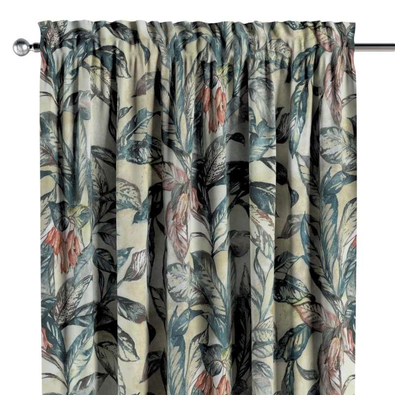 Záves s navliekacou riasiacou páskou V kolekcii Abigail, tkanina: 143-08