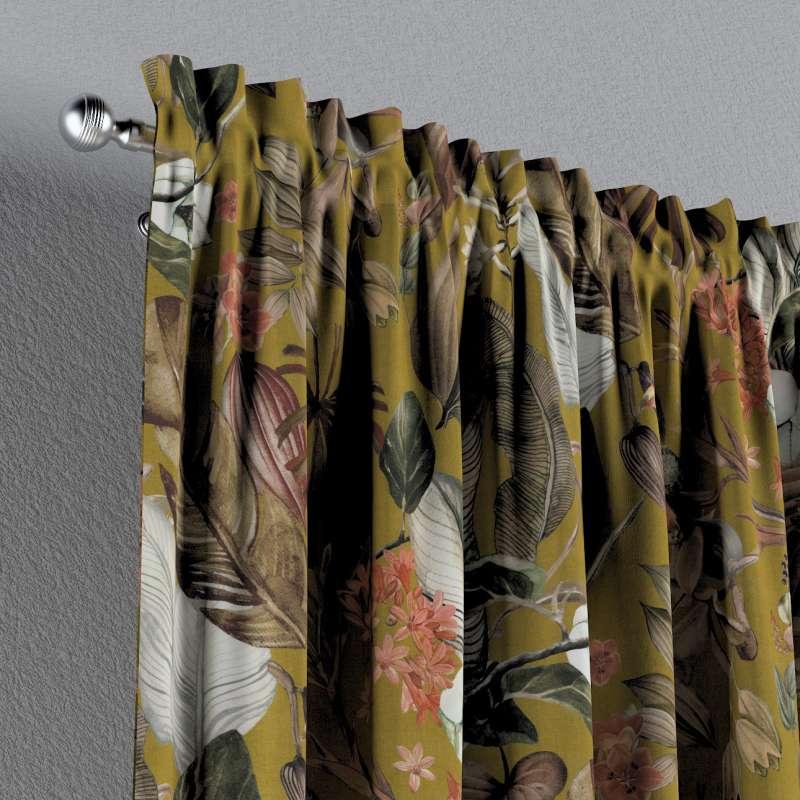 Zasłona na kanale z grzywką 1 szt. w kolekcji Abigail, tkanina: 143-09