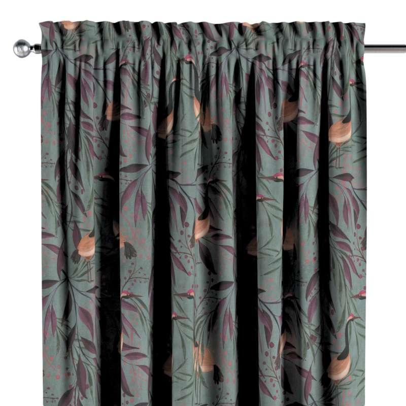 Záves s navliekacou riasiacou páskou V kolekcii Abigail, tkanina: 143-11