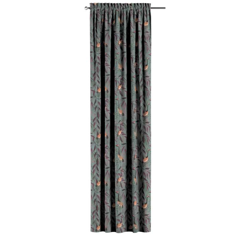 Zasłona na kanale z grzywką 1 szt. w kolekcji Abigail, tkanina: 143-11
