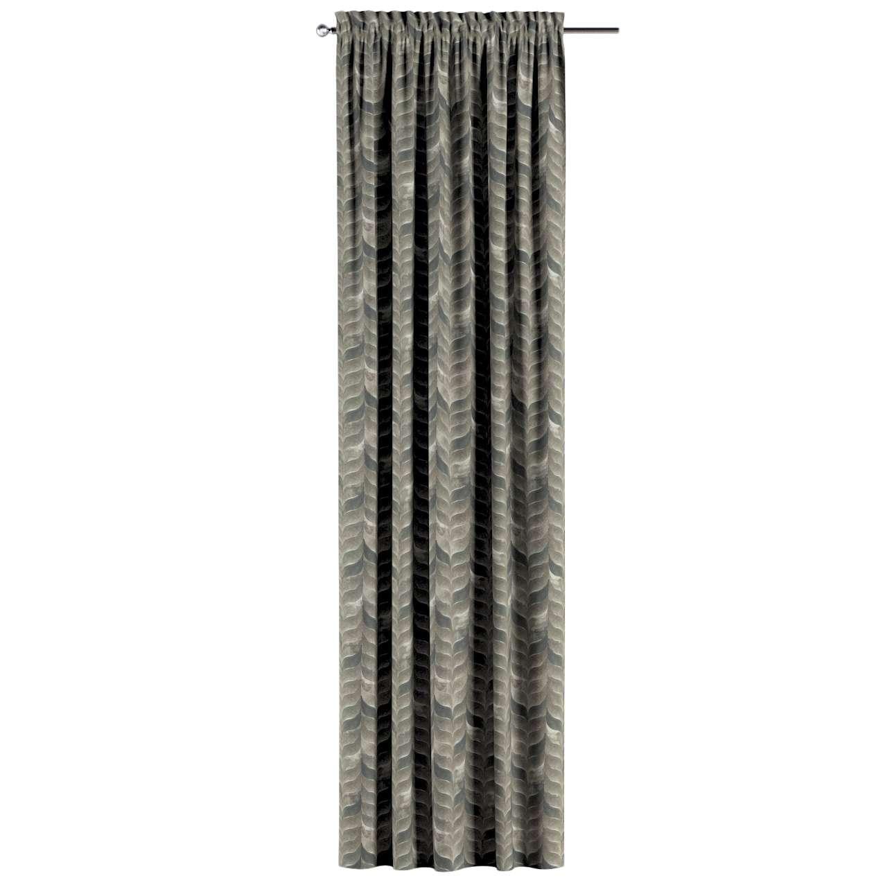 Zasłona na kanale z grzywką 1 szt. w kolekcji Abigail, tkanina: 143-12