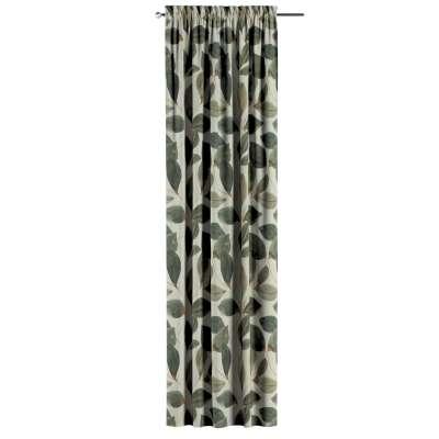 Zasłona na kanale z grzywką 1 szt. w kolekcji Abigail, tkanina: 143-17