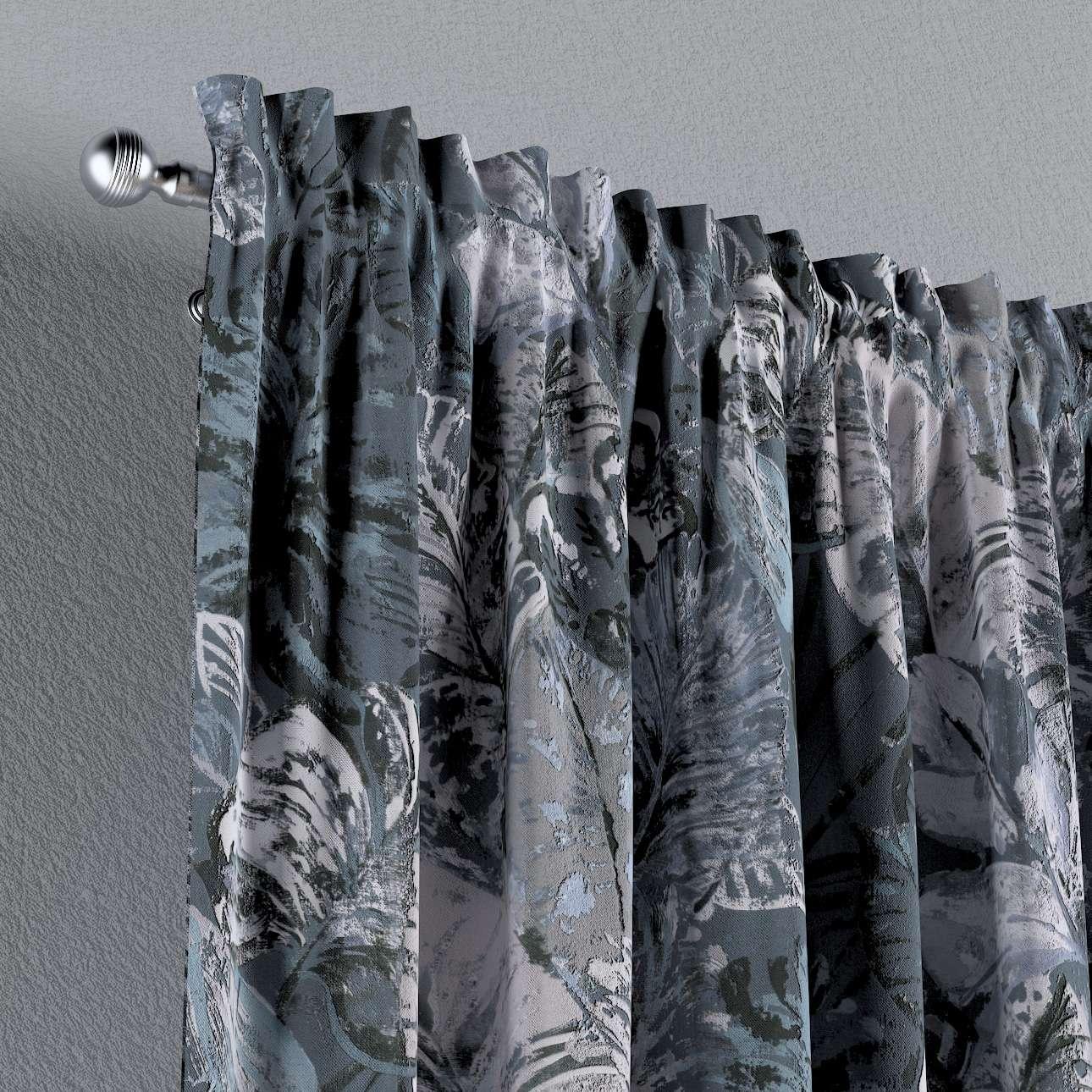 Zasłona na kanale z grzywką 1 szt. w kolekcji Abigail, tkanina: 143-18