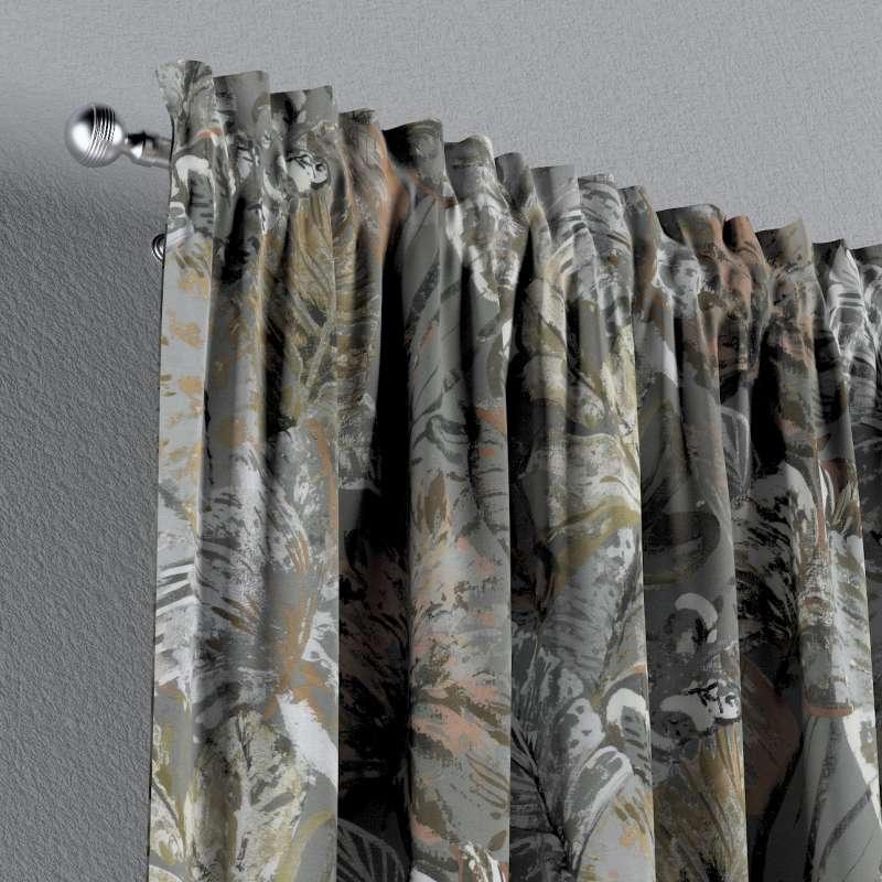 Zasłona na kanale z grzywką 1 szt. w kolekcji Abigail, tkanina: 143-19