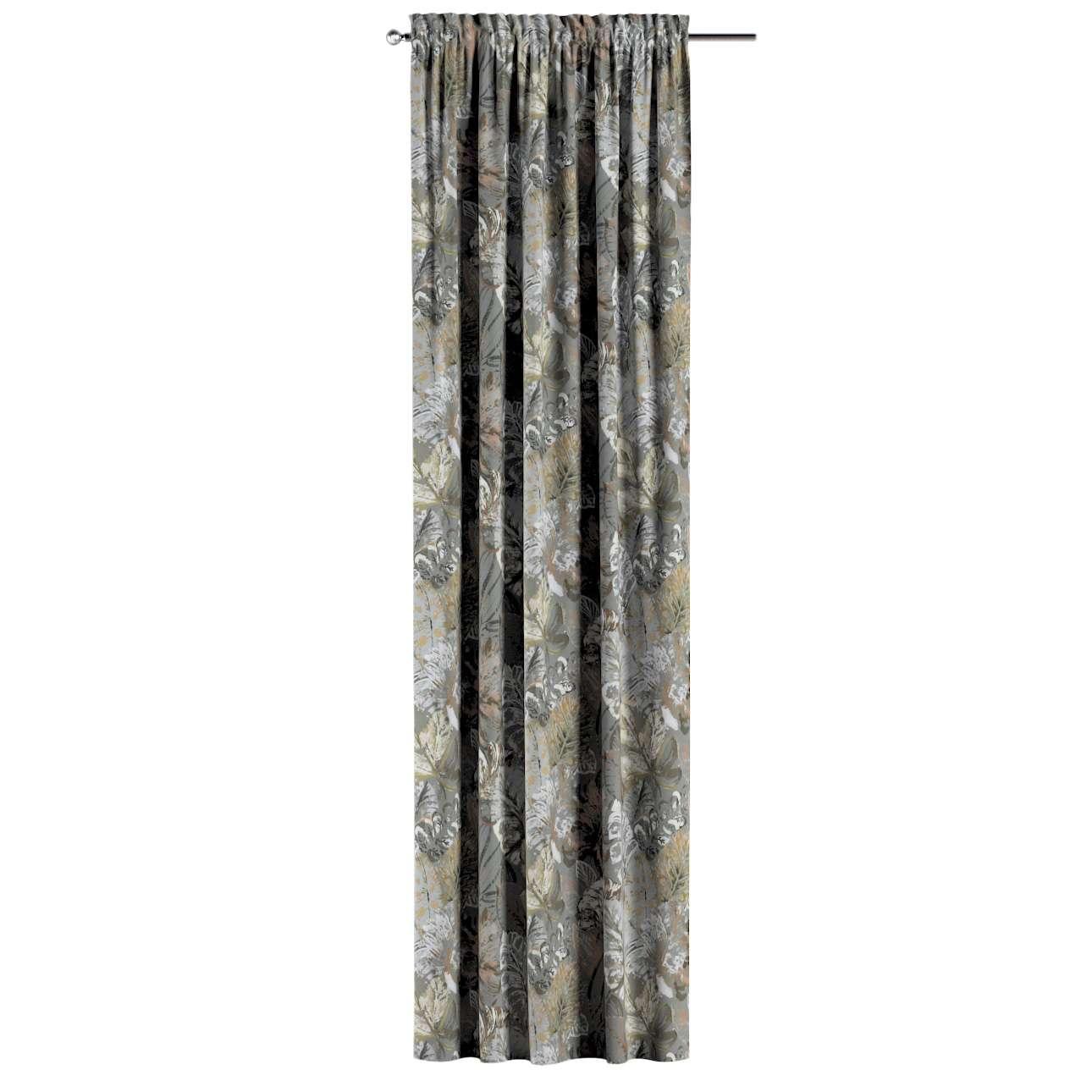 Záves s navliekacou riasiacou páskou V kolekcii Abigail, tkanina: 143-19