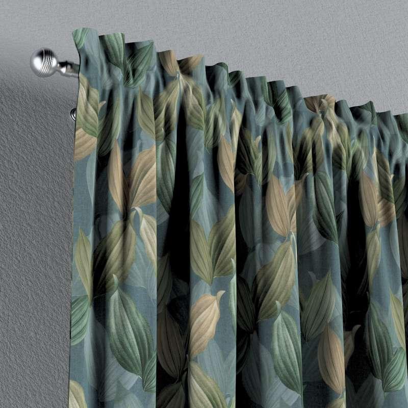 Vorhang mit Tunnel und Köpfchen von der Kollektion Abigail, Stoff: 143-20