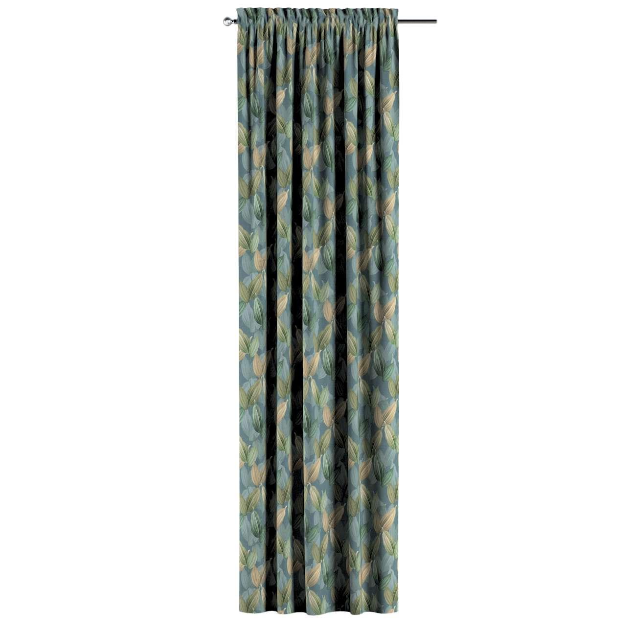 Zasłona na kanale z grzywką 1 szt. w kolekcji Abigail, tkanina: 143-20