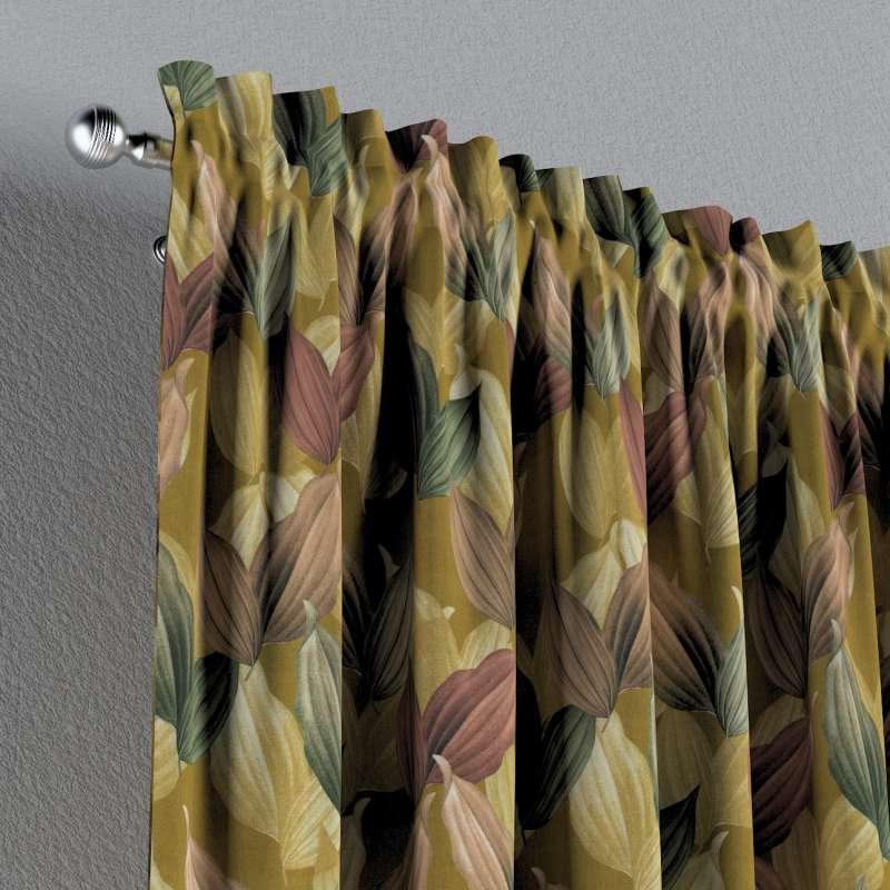 Zasłona na kanale z grzywką 1 szt. w kolekcji Abigail, tkanina: 143-22