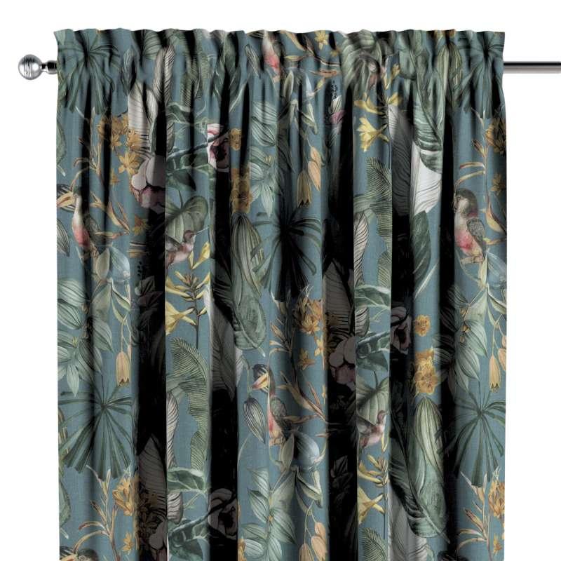 Zasłona na kanale z grzywką 1 szt. w kolekcji Abigail, tkanina: 143-24