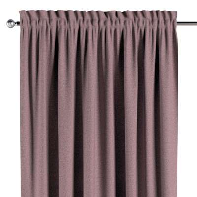 Slot and frill curtain 704-48 pink with black thread Collection Amsterdam