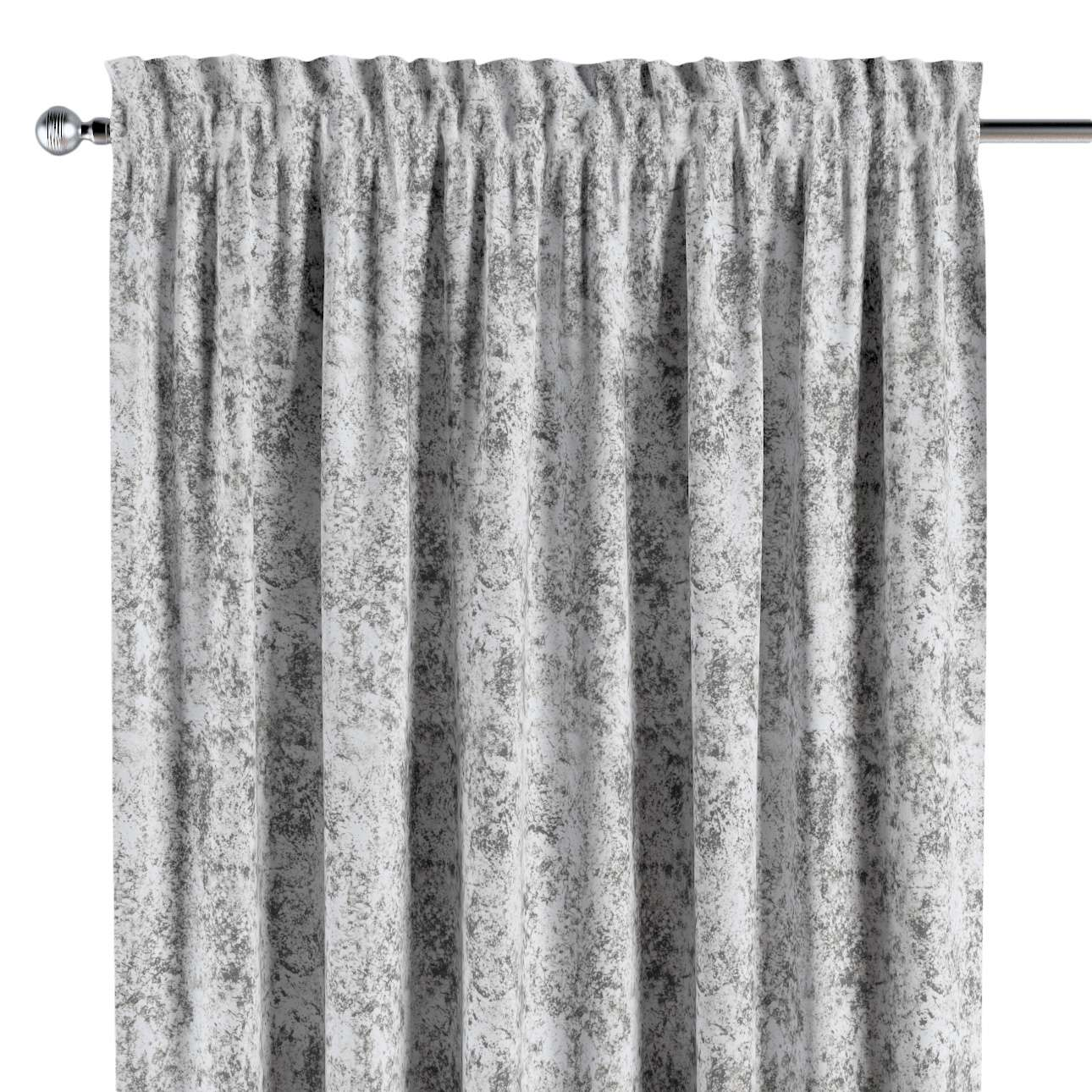 Zasłona na kanale z grzywką 1 szt. w kolekcji Velvet, tkanina: 704-49