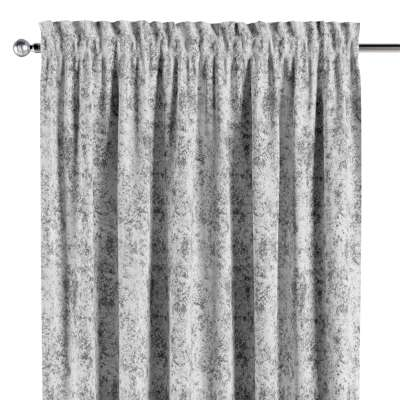 Vorhang mit Tunnel und Köpfchen 704-49 grau-weiß Kollektion Velvet