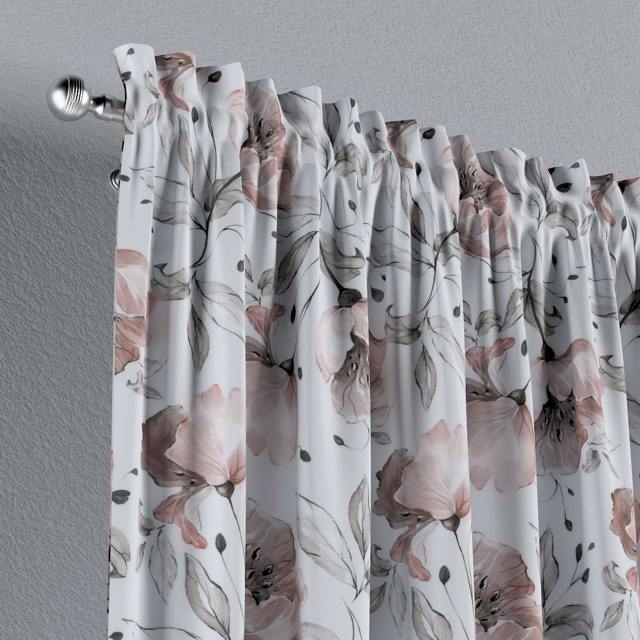 Zasłona na kanale z grzywką 1 szt. w kolekcji Velvet, tkanina: 704-50