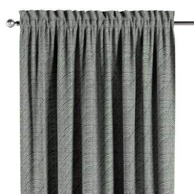 Vorhang mit Tunnel und Köpfchen 143-13 dunkelgrün-grau Kollektion Comics