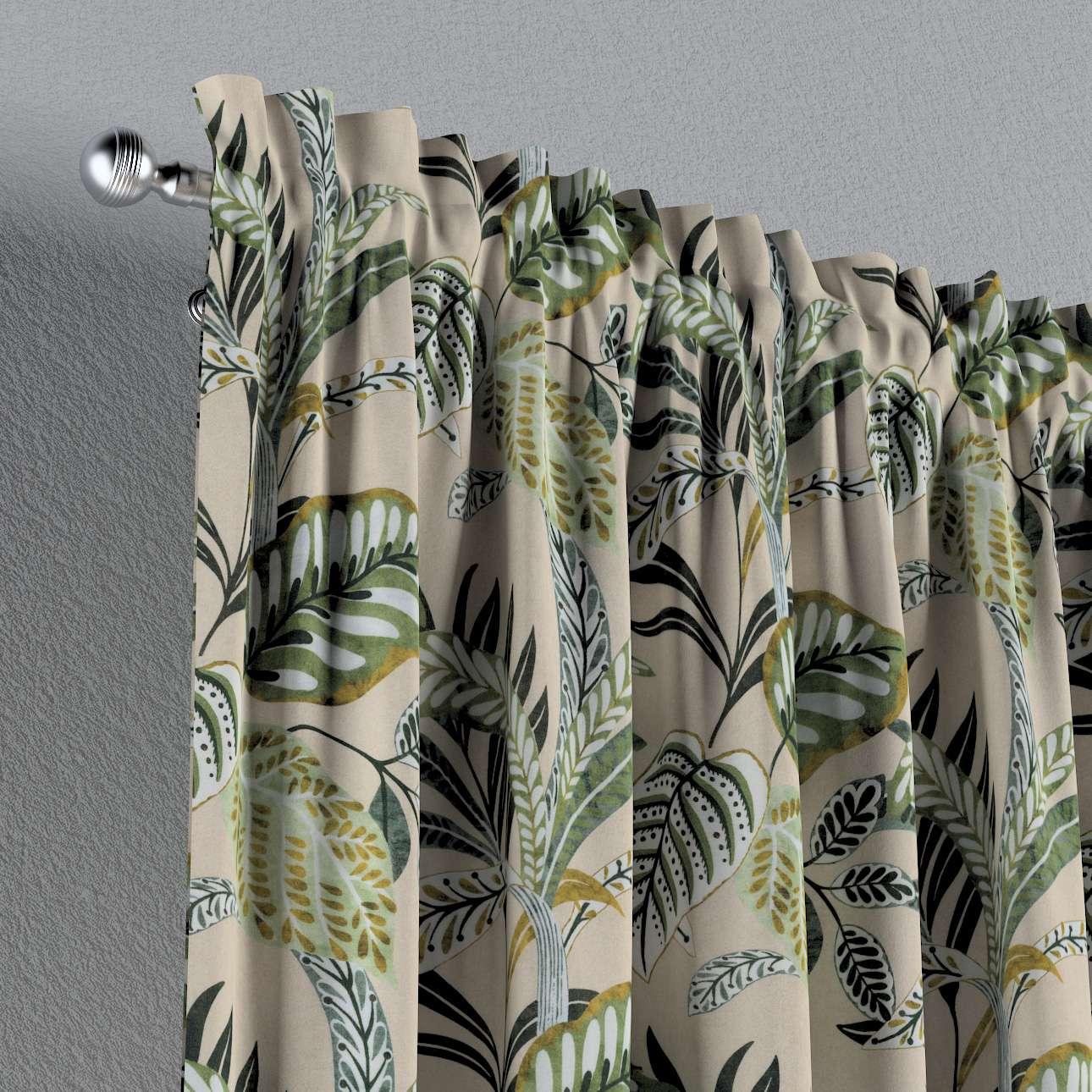 Záves s navliekacou riasiacou páskou V kolekcii Tropical Island, tkanina: 142-96