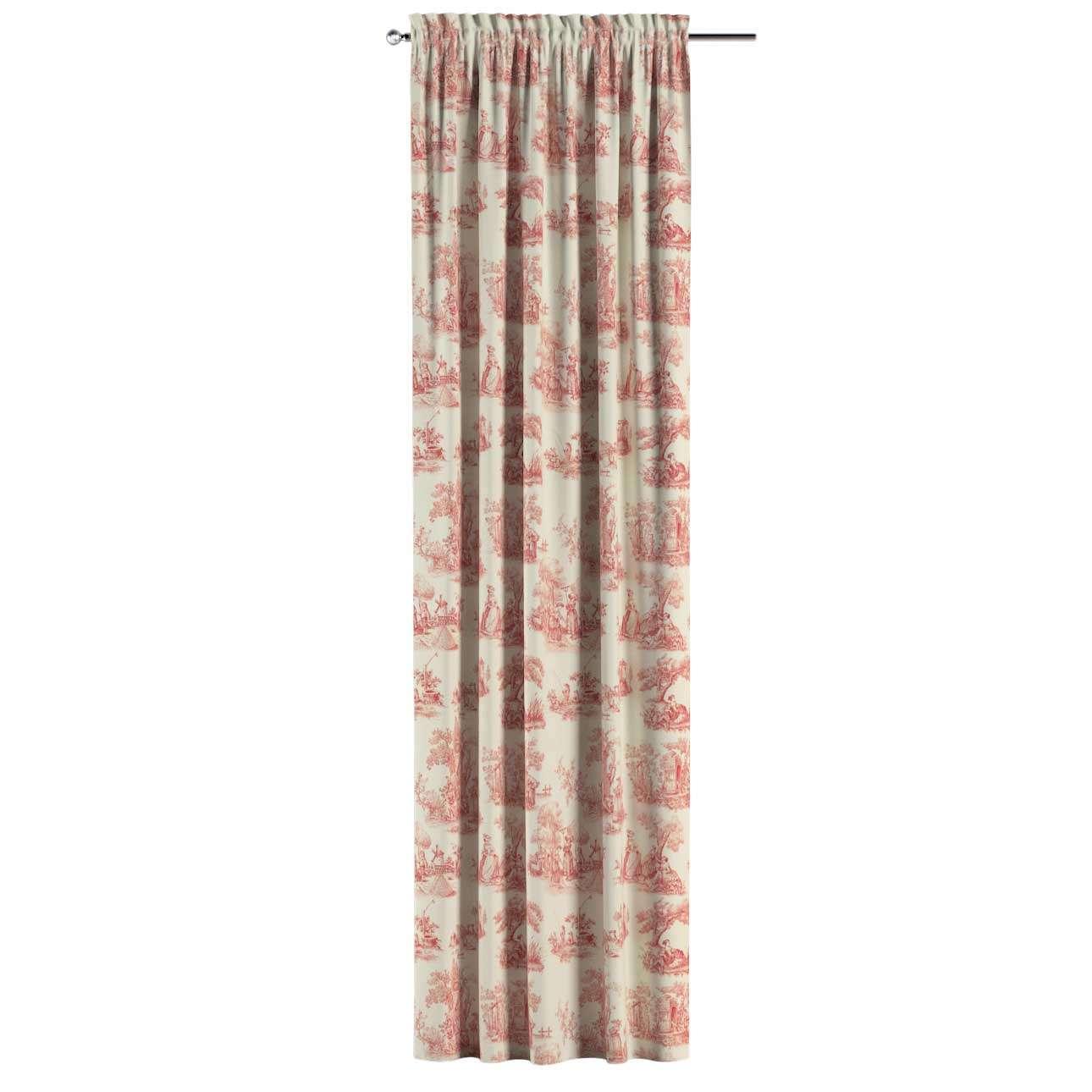 Zasłona na kanale z grzywką 1 szt. 1szt 130x260 cm w kolekcji Avinon, tkanina: 132-15
