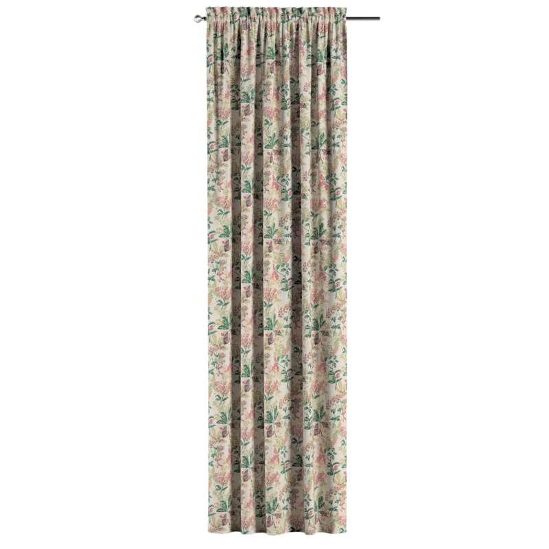 Zasłona na kanale z grzywką 1 szt. w kolekcji Londres, tkanina: 143-41
