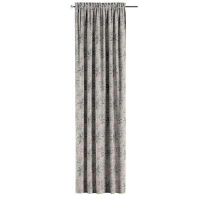 Zasłona na kanale z grzywką 1 szt. w kolekcji Londres, tkanina: 143-37