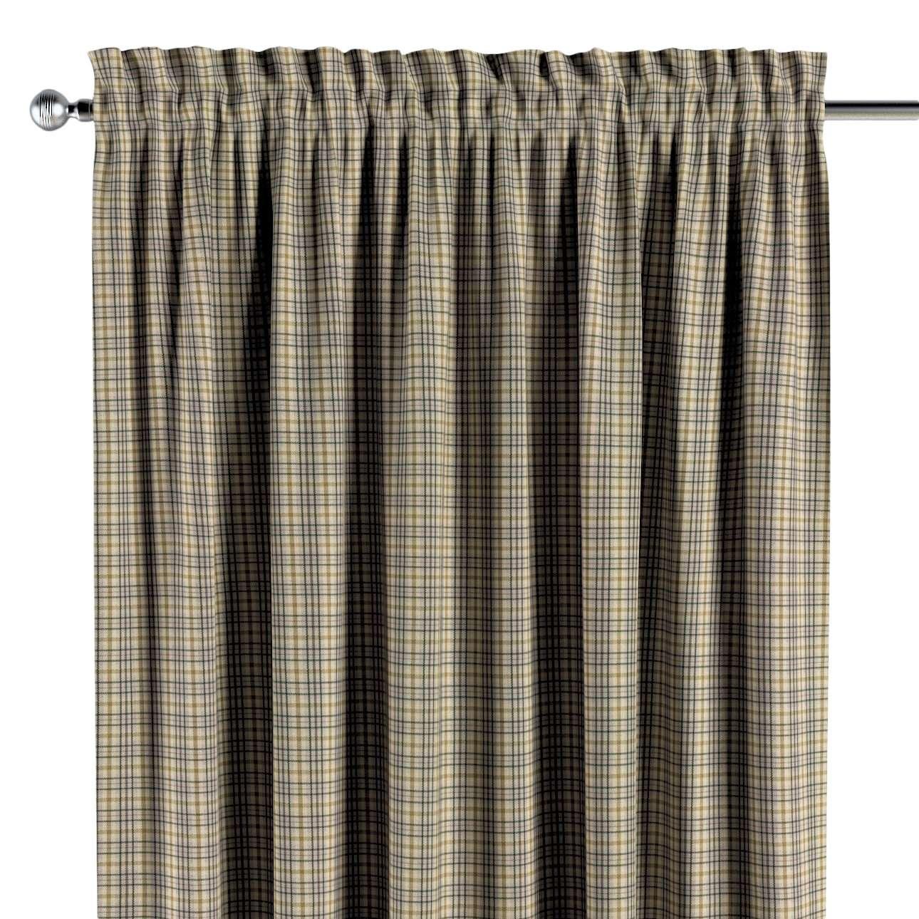 Zasłona na kanale z grzywką 1 szt. w kolekcji Londres, tkanina: 143-39
