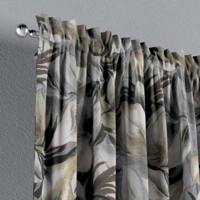 Zasłona na kanale z grzywką 1 szt. w kolekcji Abigail, tkanina: 143-60