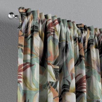 Zasłona na kanale z grzywką 1 szt. w kolekcji Abigail, tkanina: 143-61