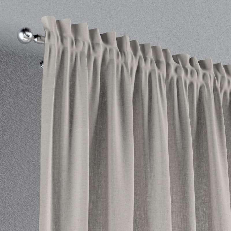 Záves s navliekacou riasiacou páskou V kolekcii Linen, tkanina: 159-07