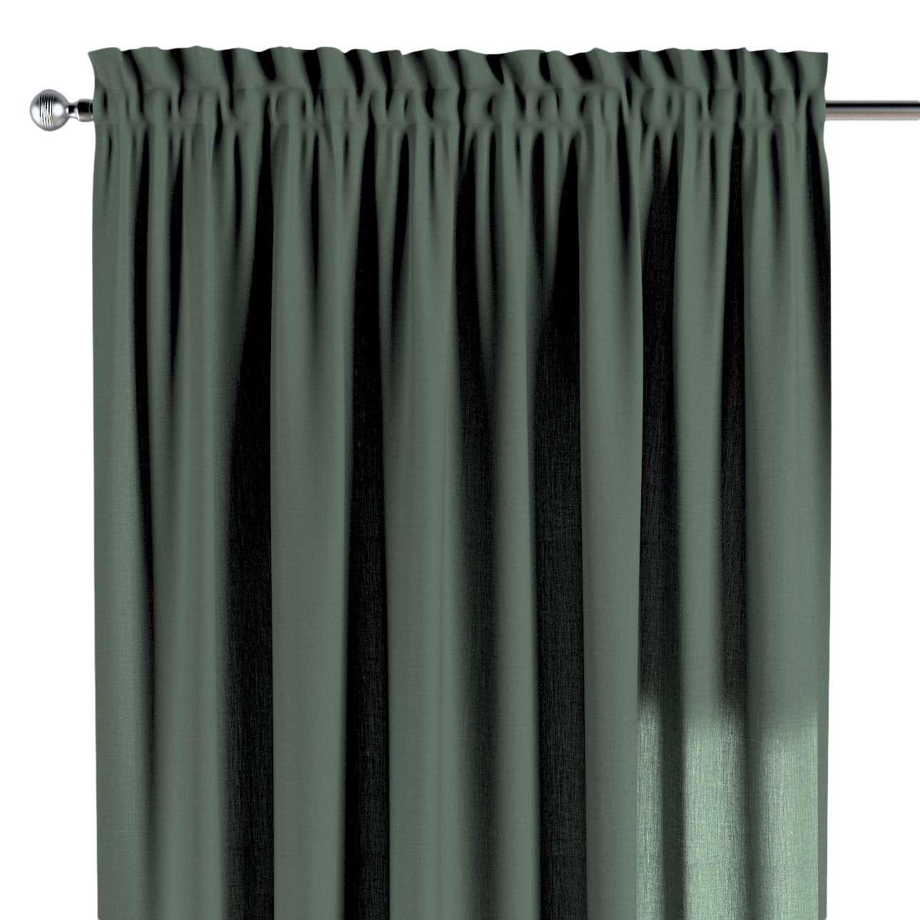 Záves s navliekacou riasiacou páskou V kolekcii Linen, tkanina: 159-08