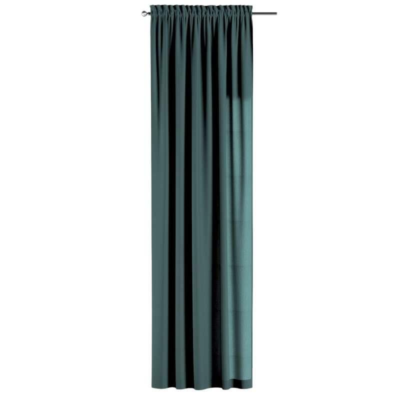 Záves s navliekacou riasiacou páskou V kolekcii Linen, tkanina: 159-09