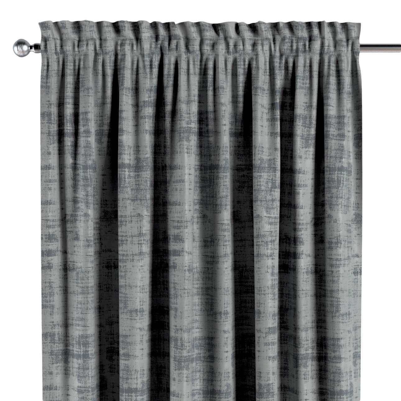 Zasłona na kanale z grzywką 1 szt. w kolekcji Velvet, tkanina: 704-32