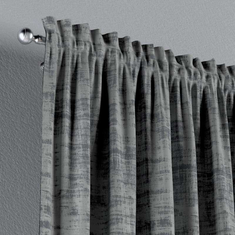 Vorhang mit Tunnel und Köpfchen von der Kollektion Velvet, Stoff: 704-32