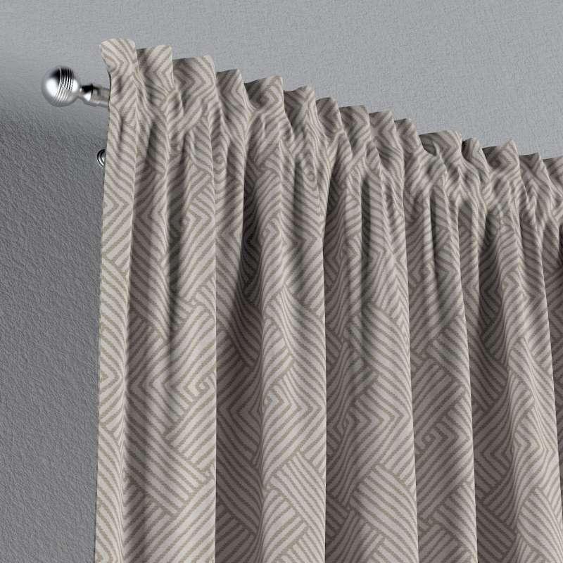 Vorhang mit Tunnel und Köpfchen von der Kollektion Sunny, Stoff: 143-44
