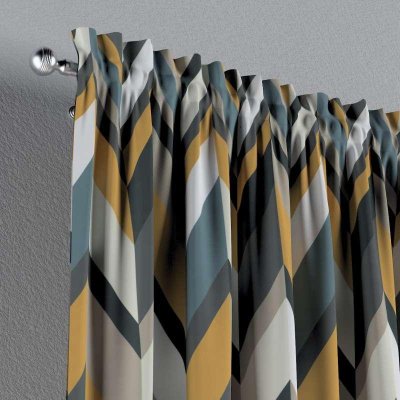 Vorhang mit Tunnel und Köpfchen von der Kollektion Vintage 70's, Stoff: 143-56