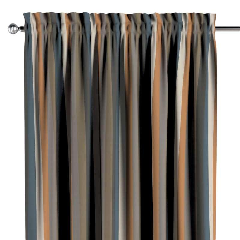 Vorhang mit Tunnel und Köpfchen von der Kollektion Vintage 70's, Stoff: 143-58