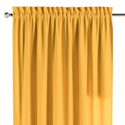 Zasłona na kanale z grzywką 1 szt. 133-40 żółty Kolekcja Loneta