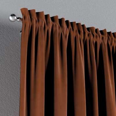 Zasłona na kanale z grzywką 1 szt. w kolekcji Velvet, tkanina: 704-33