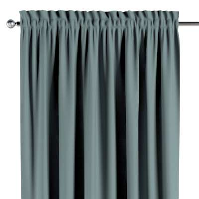 Slot and frill curtain 702-40 eucalyptus green Collection Panama Cotton