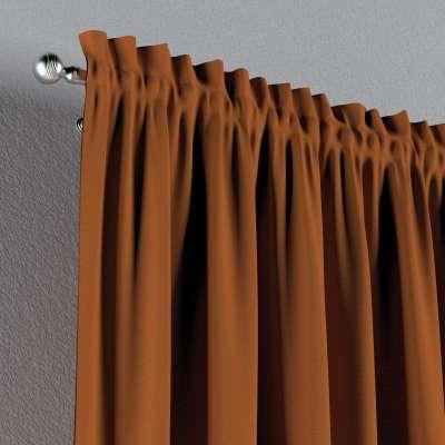 Zasłona na kanale z grzywką 1 szt. w kolekcji Cotton Panama, tkanina: 702-42