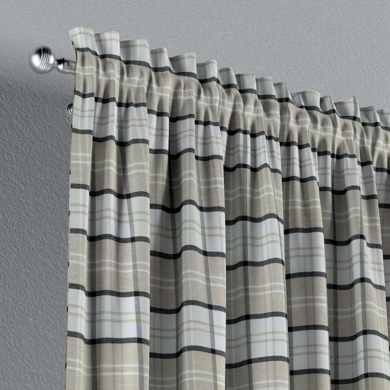 Zasłona na kanale z grzywką 1 szt. w kolekcji Bristol, tkanina: 143-64