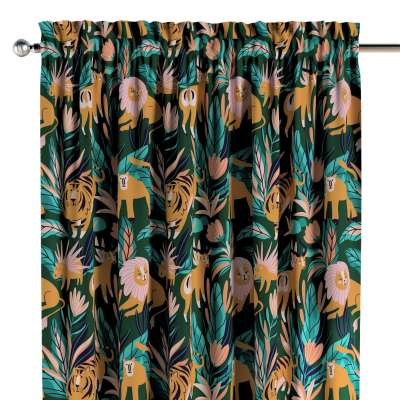 Slot and frill curtains 500-42 green Collection Magic Collection