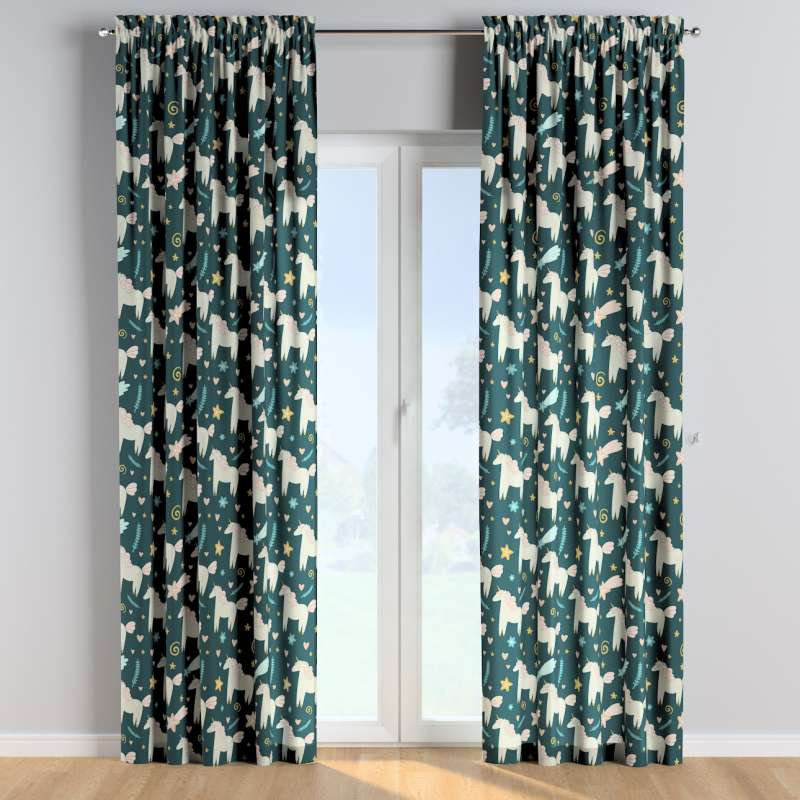 Slot and frill curtains in collection Magic Collection, fabric: 500-43
