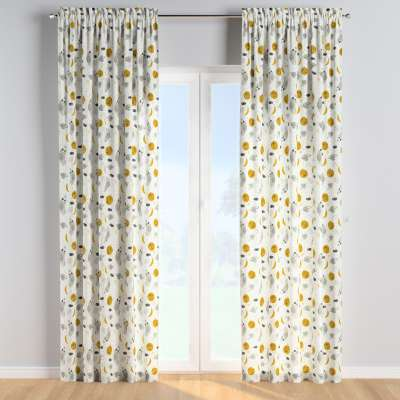 Slot and frill curtains 500-44 white-gray Collection Magic Collection