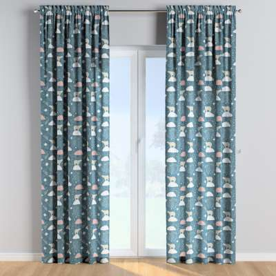 Slot and frill curtains 500-45 blue Collection Magic Collection