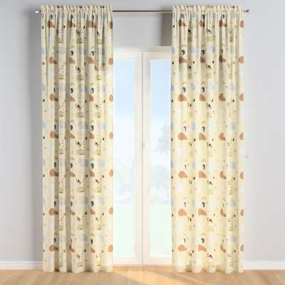 Slot and frill curtains 500-46 beżowy Collection Magic Collection