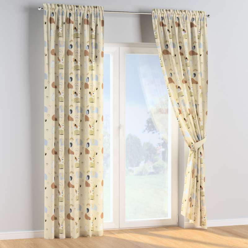 Slot and frill curtains in collection Magic Collection, fabric: 500-46