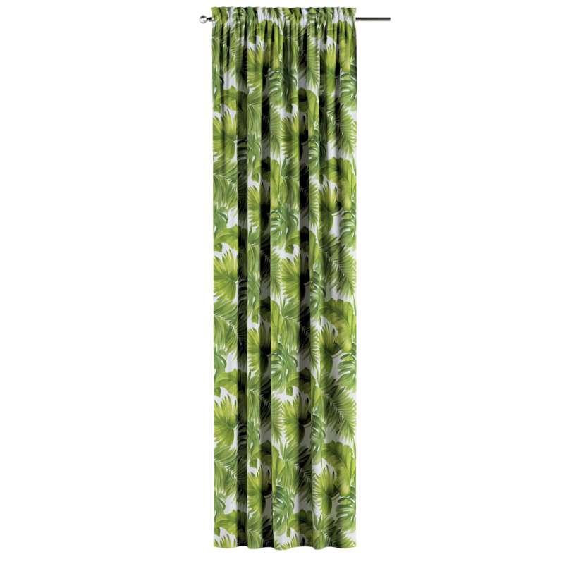 Záves s navliekacou riasiacou páskou V kolekcii Tropical Island, tkanina: 143-63